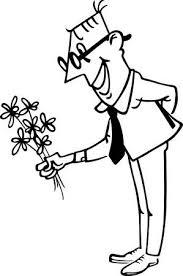 バラの花束を持つ男のイラスト素材ベクタ Image 15174916