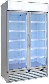 sanden double glass door cooler 1250