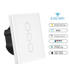 Wireless Light Dimmer Us 17 99 40 Off Wireless Smart Light Dimmer In Wall Power Switch Touch Control Wifi Light Switch Work With Alexa Google Assistant Ifttt In Switches