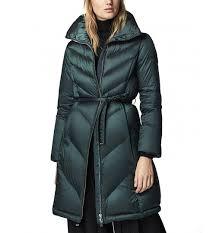Massimo Dutti Womens Down Puffer Jacket With Herringbone