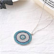 whole body s925 pure necklace evil eye greek ornament exquisite gift jewelry 1