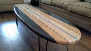 surfboard furniture. surfboard coffee table wooden surf furniture c