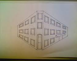 perspective drawings of buildings. Two Point Perspective City Building Drawing Drawings Of Buildings