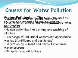 water pollution and its causes effects of water pollution