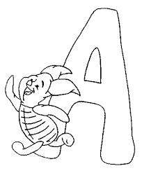 Alfabeto Winnie The Pooh Disegni Per Bambini Da Colorare