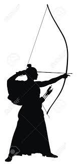 日本語弓シルエットの抽象的なベクトル イラスト
