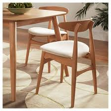 cortland danish modern natural dining chair set of 2 natural beige inspire q target
