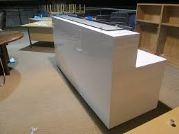 white gloss reception desk new used office furniture glasgow within desks decorations 1