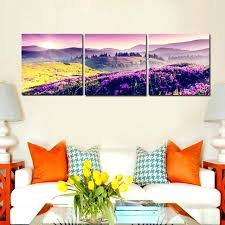 canvas wall art sets nature landscape paintings beautiful purple sunrise mountain pictures for living room wa