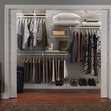 rubbermaid closet organizers with brown carpet and white wall decor for home decor