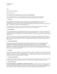 Formal Job Offer Letter Formal Letter Template