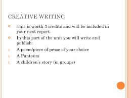 Creative Writing Exercise