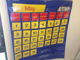 Yellow Calendar Pocket Chart Our Monthly Calendar Pocket Chart Every Day Begins New
