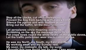 funeral blues stop the clocks wh auden four weddings and a funeral scrolling words you