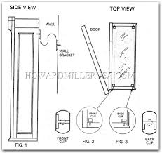 wall mounted cabinets. Wall Mounting Curio Cabinet Bracket And Shelf Clip Installation Mounted Cabinets