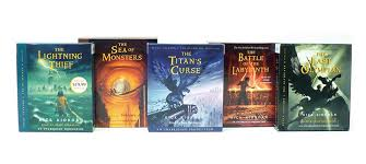 percy jackson and the olympians books 1 5 cd collection cover image
