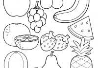 Fruits Coloring Worksheets For Kindergarten With Fruit Pictures For