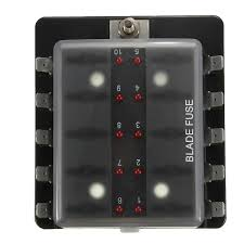 aliexpress com buy 1 power in 10 way fuse holder box with led 12 Volt Fuse Box aliexpress com buy 1 power in 10 way fuse holder box with led indicators blade fuses 12 volt from reliable box holder suppliers on wintop trading co,, 12 volt fuse box ebay