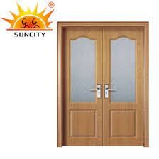 china modern double wooden pvc mdf