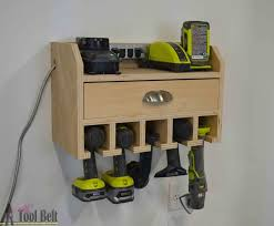organize your tools free plans for a diy cordless drill storage and battery charging station