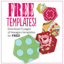 FREE Hexagon template pdf download - Love Patchwork & Quilting &  Adamdwight.com