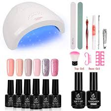 Beetles Gel Nail Polish Starter Kit with 48W UV/LED ... - Amazon.com