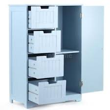 bathroom floor storage cabinets. image is loading wood-bathroom-floor-storage-cabinet-organizer-with-4- bathroom floor storage cabinets