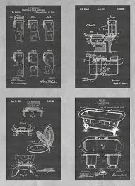 Image Patent Amazoncom Vintage Bathroom Wall Decor Collection Set Of Four Patent Print Art Posters Choose From Multiple Size And Background Color Options Handmade Amazoncom Amazoncom Vintage Bathroom Wall Decor Collection Set Of Four
