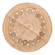 artisan home made in india jute round area rug 4 in jute closeouts