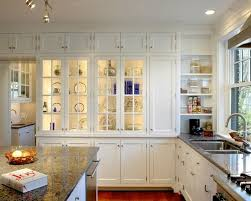Glass Kitchen Cabinets Entrancing Kitchen Wall Cabinets With Glass Doors