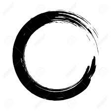 Circle Border Grunge Background Circle Black On White Sketch To Create Border