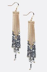 shimmer crystal chandelier earrings emma stine jewelry earrings
