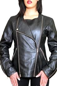 ndk new york timeless women s three in one lambskin moto jacket colors black sizes