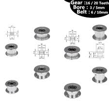 <b>GT2</b> Pulley 16/20 Without <b>Teeth</b> Pulley 16/20Teeth OR Without ...