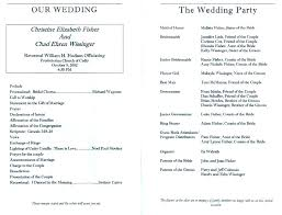 Templates For Church Programs Wedding Church Service Program Template How To Create A
