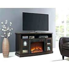 glass fireplace tv stand electric