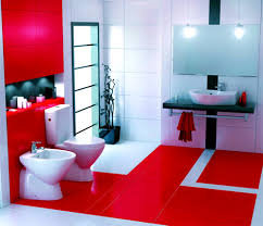 Dark Red Bathroom Accessories Bathroom Appealing Add Warmth Your House Ideas From These Red