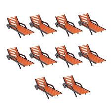 Bench Brief Size Chart Kesoto 10 Pieces Plastic Beach Bench Sun Loungers Model Landscape Layout