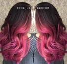 Ombre hair color pink