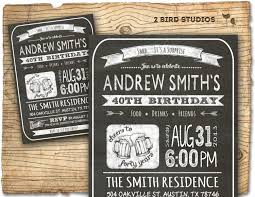30th birthday party invitations for him birthday party invitation invite 30th birthday male diy 40th 30th birthday invitations for him