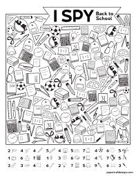 Printable Design Paper Free Printable I Spy Back To School Activity Paper Trail