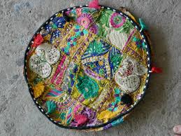 floor seating indian. Gypsy Floor Cushion - Patchwork Pouf Bohemian Indian Seating P