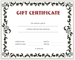 Printable Gift Certificate Templates Gift Certificate Template Floral Design Dotxes