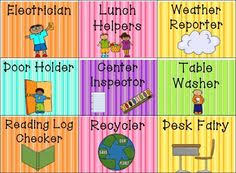 List Of Classroom Jobs Chart Editable Image Results Pikosy