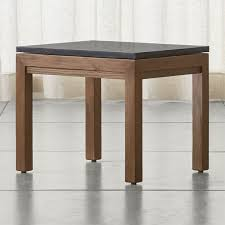 marble top end tables. Parsons Black Marble Top/ Elm Base 20x24 End Table + Reviews | Crate And Barrel Top Tables