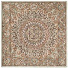 heritage blue grey 10 ft x 10 ft square area rug