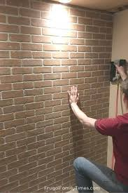 how to make a diy faux brick wall look