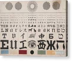 George Mayerle Test Chart Eye Test Chart English 1 Acrylic Print