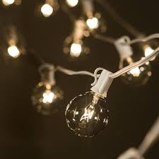 Amazon.com: 50 Foot G50 Patio Globe String Lights with 2 Inch Clear Bulbs  for Outdoor String Lighting (White Wire): Home Improvement