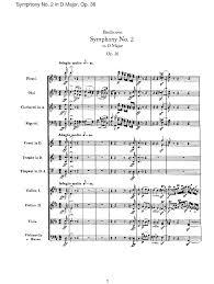 symphony no op beethoven ludwig van petrucci sheet music
